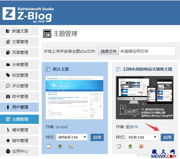 怎样安装ZBlog博客主题?如何获得ZBlog主题? 第3张